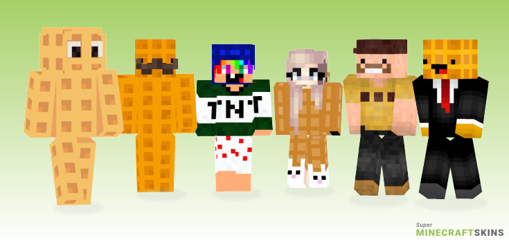 Waffle Minecraft Skins - Best Free Minecraft skins for Girls and Boys