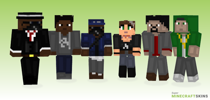 Watch dogs Minecraft Skins - Best Free Minecraft skins for Girls and Boys