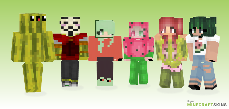 Watermelon Minecraft Skins - Best Free Minecraft skins for Girls and Boys