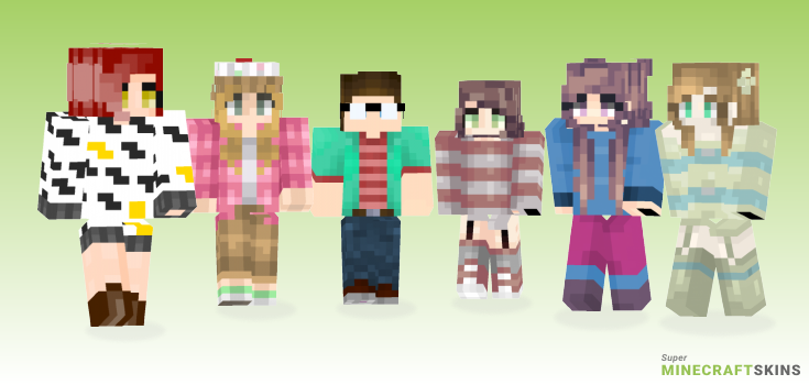 Wear Minecraft Skins - Best Free Minecraft skins for Girls and Boys