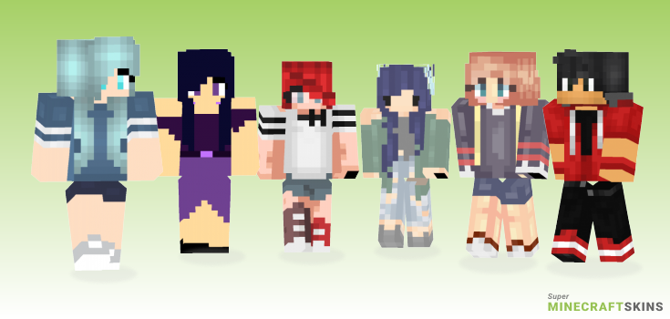 Weekend Minecraft Skins - Best Free Minecraft skins for Girls and Boys