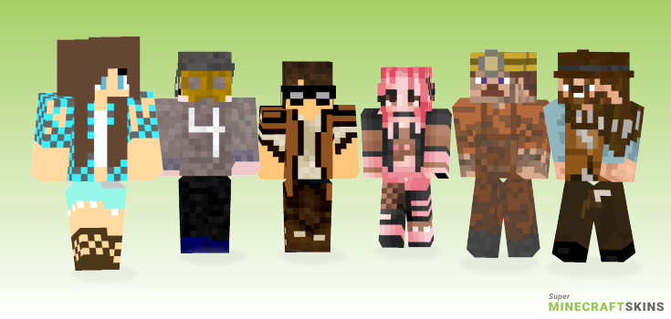 Western Minecraft Skins - Best Free Minecraft skins for Girls and Boys