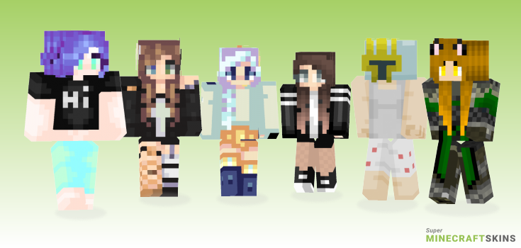 When Minecraft Skins - Best Free Minecraft skins for Girls and Boys