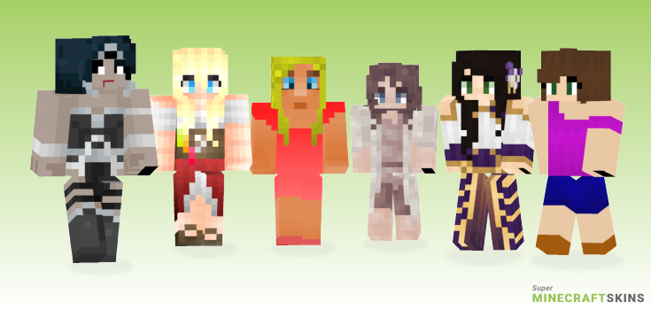 Woman Minecraft Skins - Best Free Minecraft skins for Girls and Boys