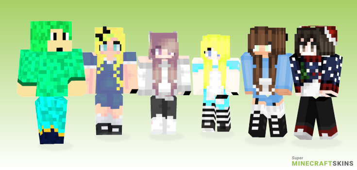 Wonderland Minecraft Skins - Best Free Minecraft skins for Girls and Boys