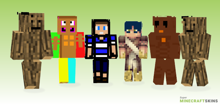 Wooden Minecraft Skins - Best Free Minecraft skins for Girls and Boys