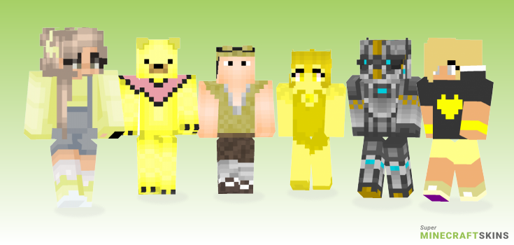 Yellow Minecraft Skins - Best Free Minecraft skins for Girls and Boys