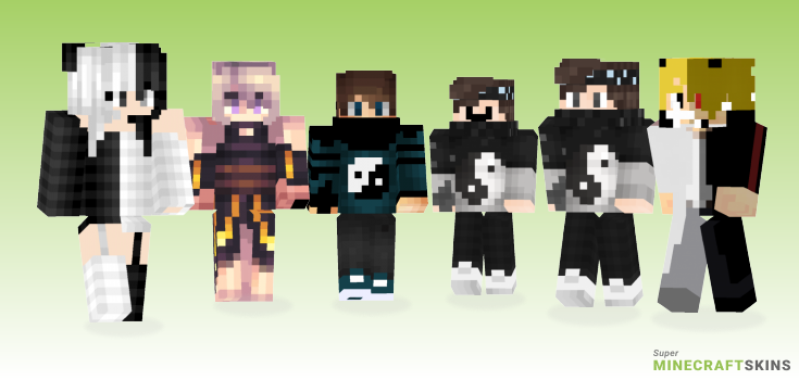 Yin Minecraft Skins - Best Free Minecraft skins for Girls and Boys