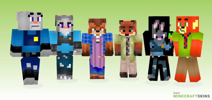 Zootopia Minecraft Skins - Best Free Minecraft skins for Girls and Boys