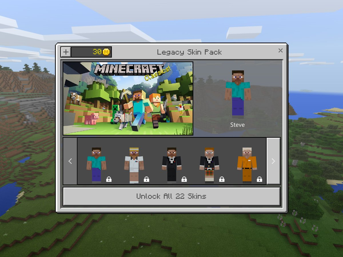Legacy Skin Pack by Minecraft gameplay