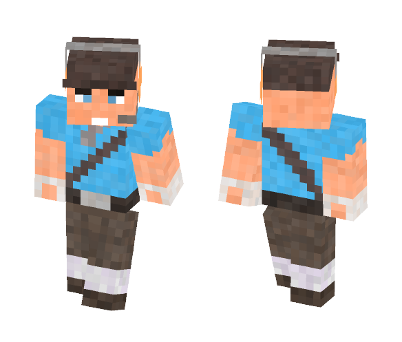 BLU Scout - Team Fortress 2 - Male Minecraft Skins - image 1