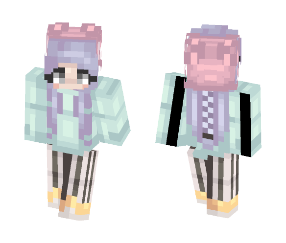 I love Pastel Colors ouo - Female Minecraft Skins - image 1