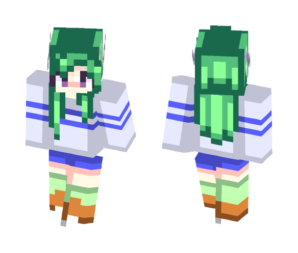 Cloudy with a Chance of Horns - Female Minecraft Skins - image 1