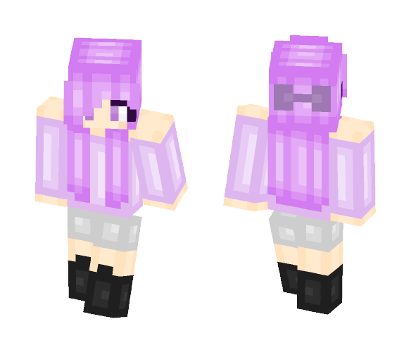 Download Purple hair girl Minecraft Skin for Free ...