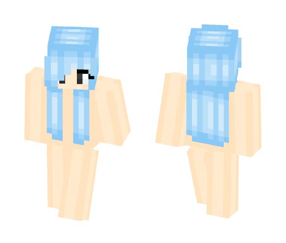 Lightblue haired girl base - Color Haired Girls Minecraft Skins - image 1