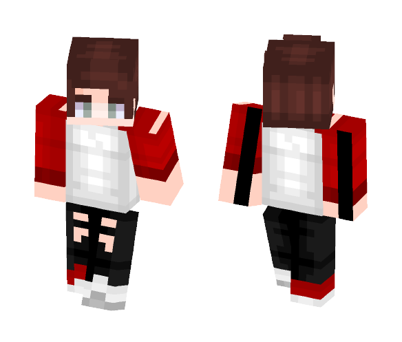 Red And White Shirt - Male Minecraft Skins - image 1