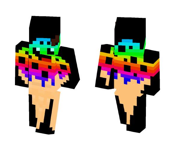 Rainbow IceScream - Male Minecraft Skins - image 1