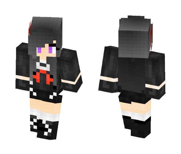 Download Anime School Girl Minecraft Skin for Free