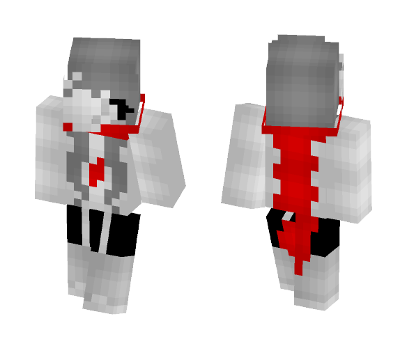 Aftertale Sansy | Genocide - Female Minecraft Skins - image 1
