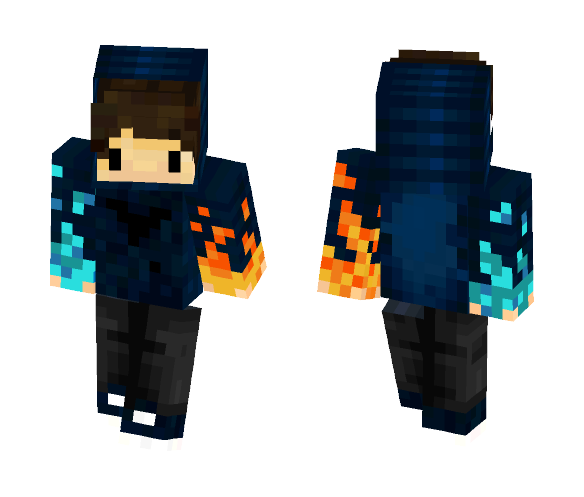 Ice/Fire chibi - Male Minecraft Skins - image 1