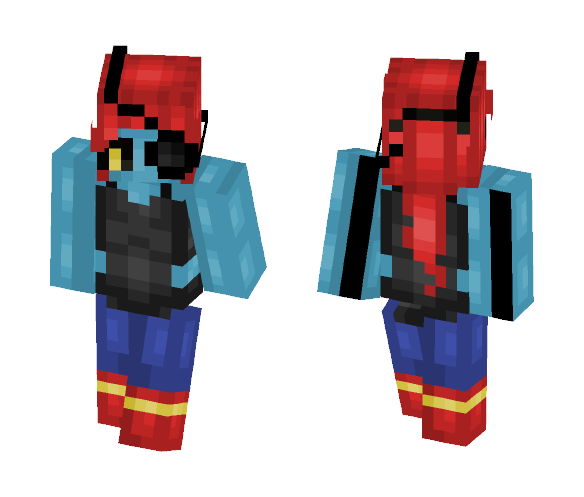 Undyne - Pacifist Route - Female Minecraft Skins - image 1