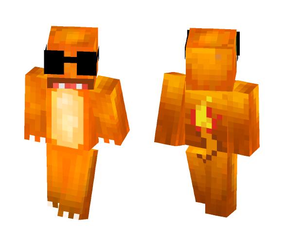 Secret Agent Charmander - Male Minecraft Skins - image 1