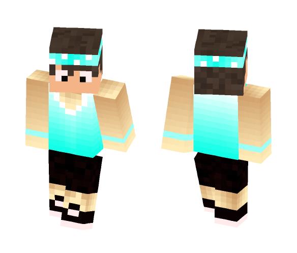 Aqua Tank Top Boy - Male Minecraft Skins - image 1