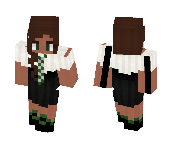 ⊰ Hogwarts Slytherin Uniform ⊱ - Female Minecraft Skins - image 1