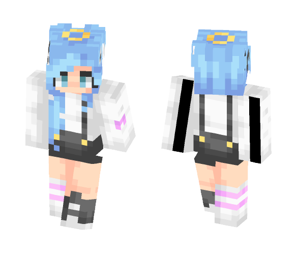 ~Blue overalls thingy - Female Minecraft Skins - image 1