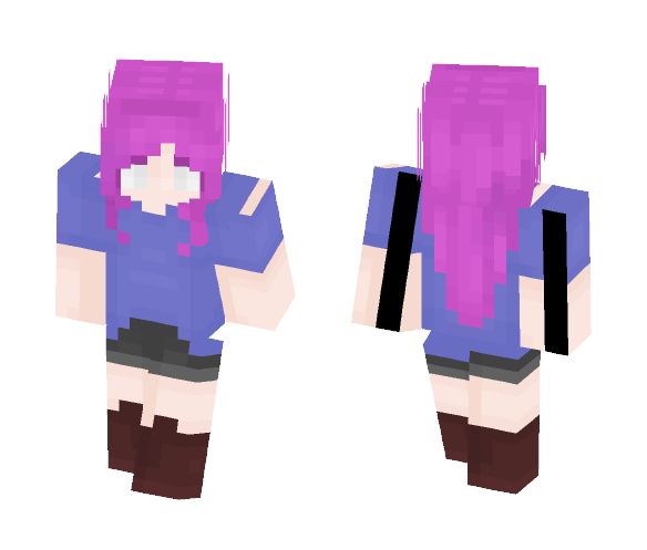 I tried ;-; ~this was a collab~ - Female Minecraft Skins - image 1