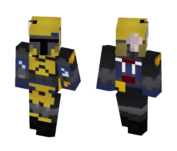 Yellow Mandalorian | Star Wars - Male Minecraft Skins - image 1
