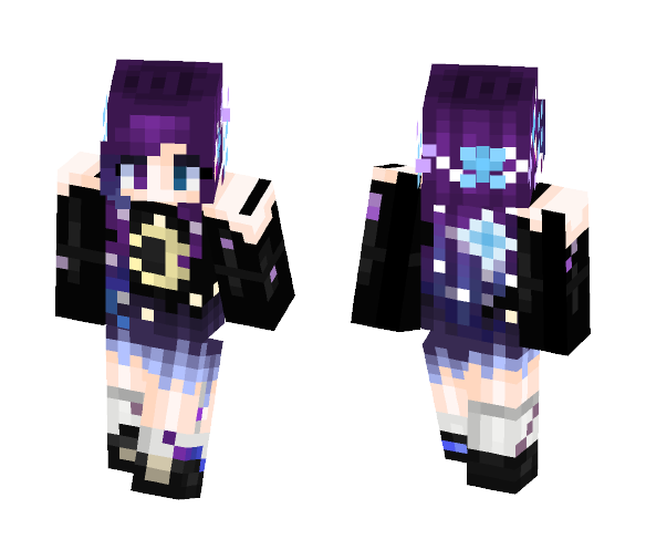 Download Galaxy Girl V2 0 Minecraft Skin For Free Superminecraftskins