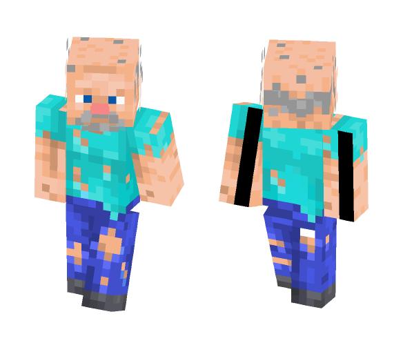 Download Old Timer Steve Minecraft Skin For Free Superminecraftskins