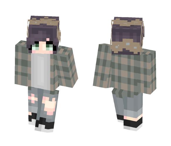 Flannel With a Flower Crown - Flower Crown Minecraft Skins - image 1