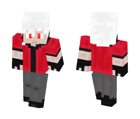 Orange Red Gamer - Male Minecraft Skins - image 1