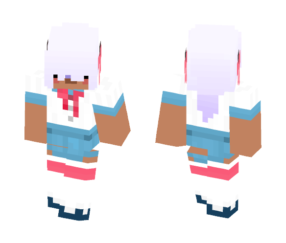 One Eye Girl With Horns And Bows - Girl Minecraft Skins - image 1