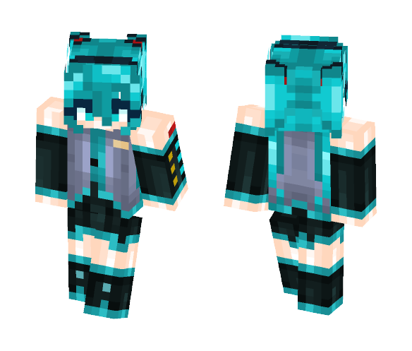 Download ♥Hatsune Miku♥ [Vocaloid] Minecraft Skin for Free