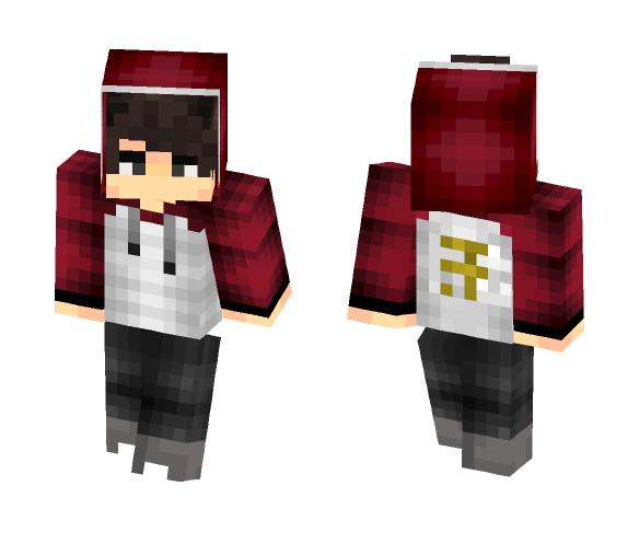 Maroon Jacket Boy - Male Minecraft Skins - image 1