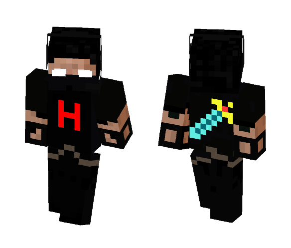 Herobrine warrior - Male Minecraft Skins - image 1