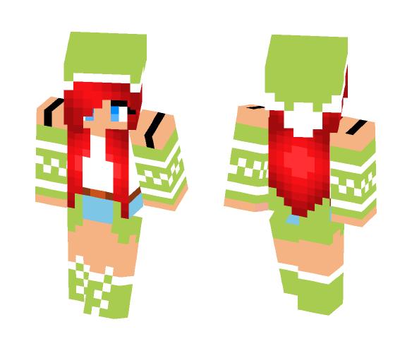 Cute Christmas Girl - Christmas Minecraft Skins - image 1