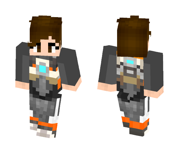 New recurit tracer (Lena Oxton) - Female Minecraft Skins - image 1