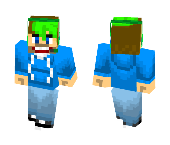 Download Jacksepticeye Lime Green Hair Minecraft Skin For Free
