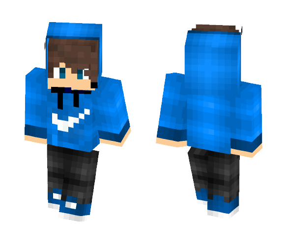 Download Cool Guy With Blue Nike Hoodie Minecraft Skin For Free Superminecraftskins