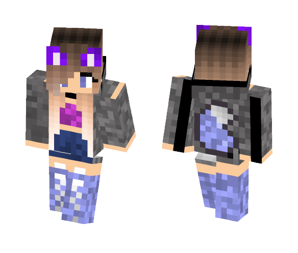 Download Cute Wolf Girl Minecraft Skin For Free