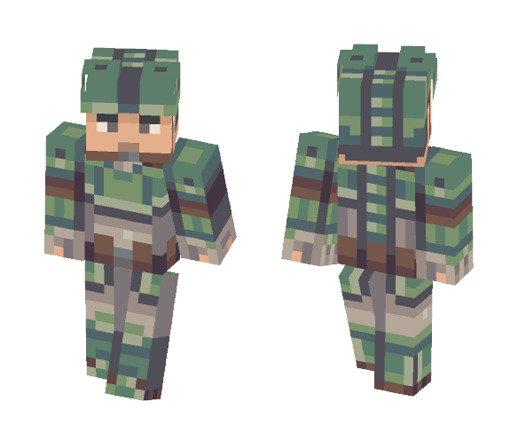 Human Soldier 2: Electric Boogaloo - Male Minecraft Skins - image 1