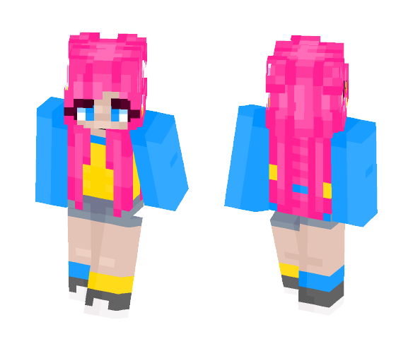 Pansexual Pride - Female Minecraft Skins - image 1