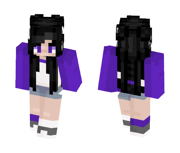 Asexual Pride - Female Minecraft Skins - image 1