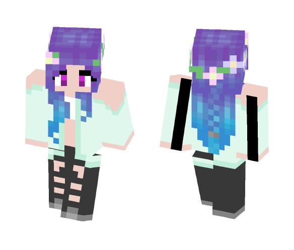 Spring Goth - Female Minecraft Skins - image 1