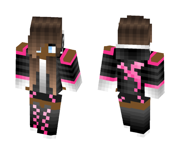 Download Cute Girl With Hoodie Minecraft Skin For Free