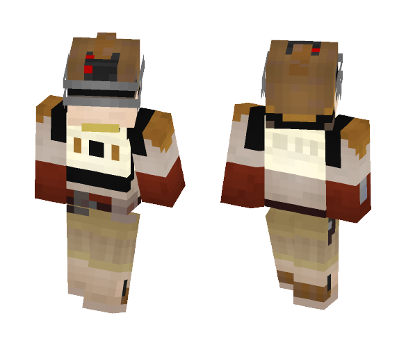 Star Wars: Uprising Bounty Hunter - Male Minecraft Skins - image 1